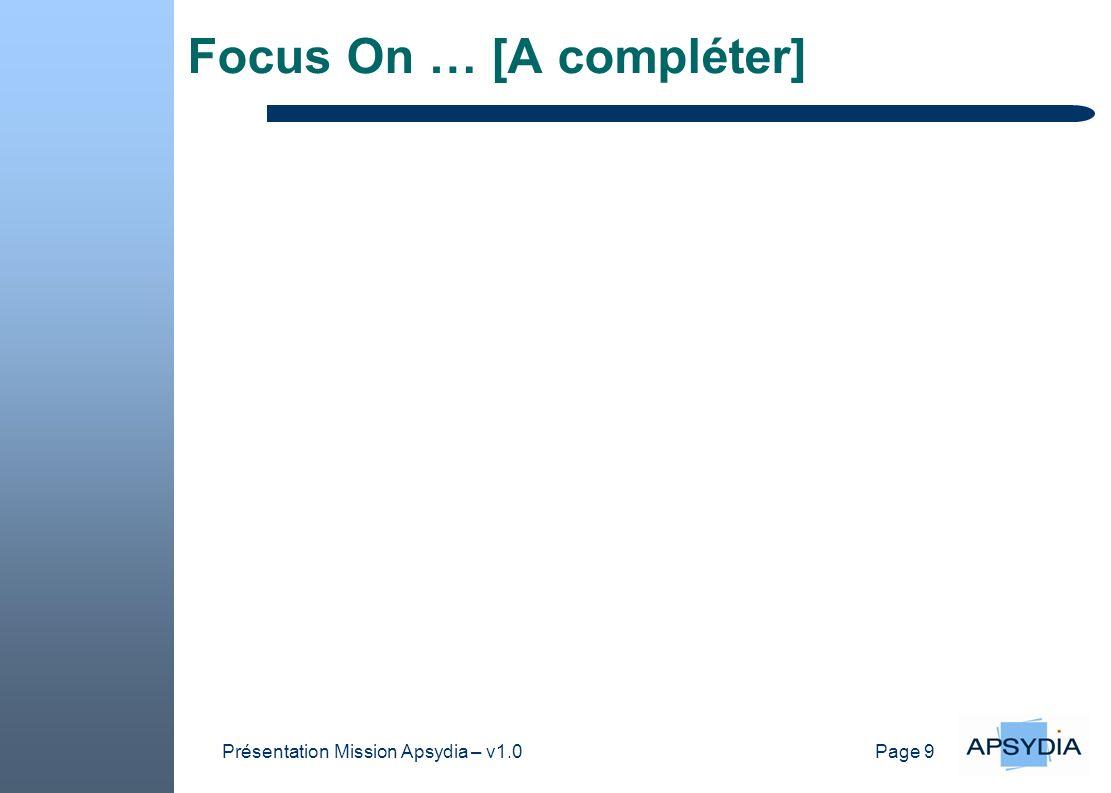 Focus On … [A compléter]